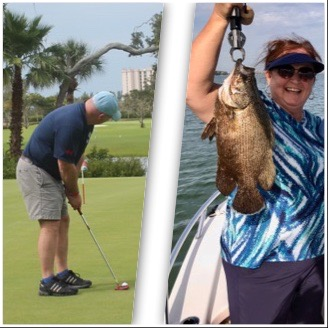 golfing and fishing event